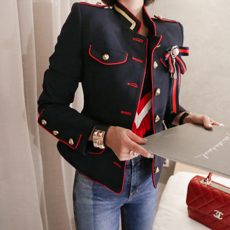 Coat Women Jacket Vintage Elegant Fashion Cute High-Quality Solid Fresh Work-Style Comfortable