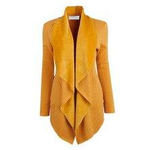 Autumn Jackets Women Medium Length Winter Thick Turn Down Collar Coat Women Bat Sleeved Cardigan Open Stitch Coat Female 2017
