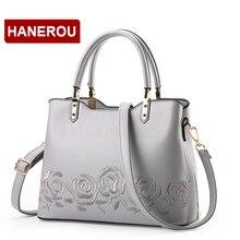 Роскошные женские кожаные сумки Сумка женская кожаная сумка Женская Вышивка цветок сумка мешок основной