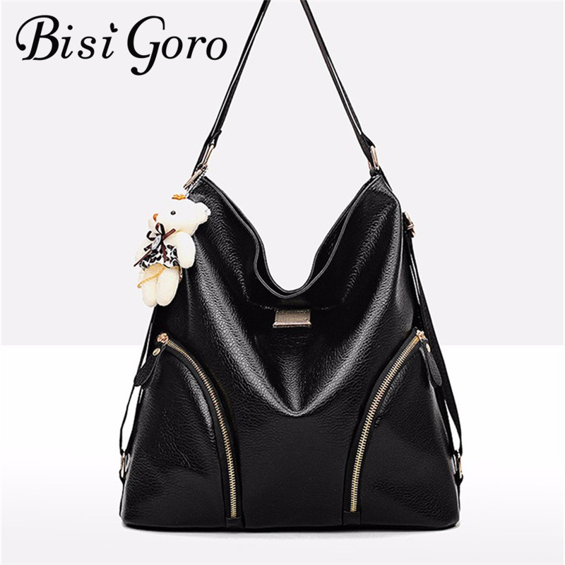 Bisi Goro 2018 Frauen Schulter Taschen Eimer Tasche PU Leder Vintage Marke Designer Damen Crossbody messenger Taschen Mehrere Möglichkeiten,