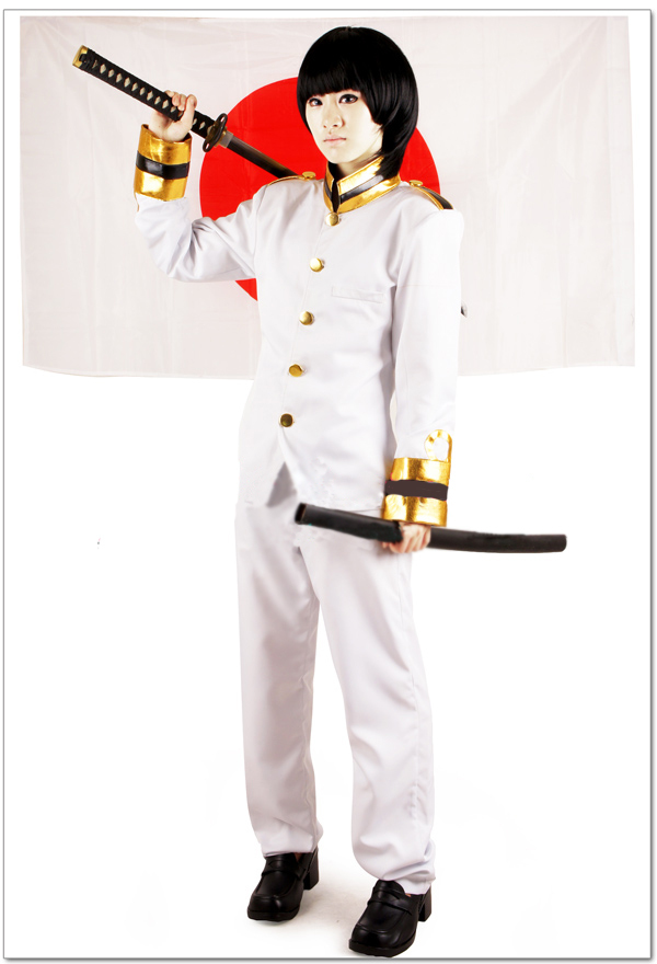 Free Shipping Axis Powers Hetalia Japan Kiku Honda Uniform Anime Cosplay Costume