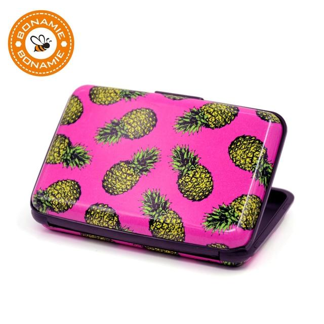 Ananas Credit bonamie pineapple cactus print credit card case box travel business