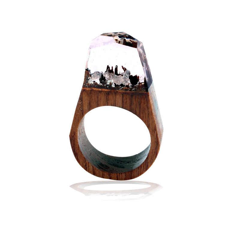 Aomaner модное деревянное кольцо для мужчин, индивидуальные национальные кольца из смолы ветра, Женское Обручальное кольцо, ювелирные изделия, Прямая доставка, оптовая продажа