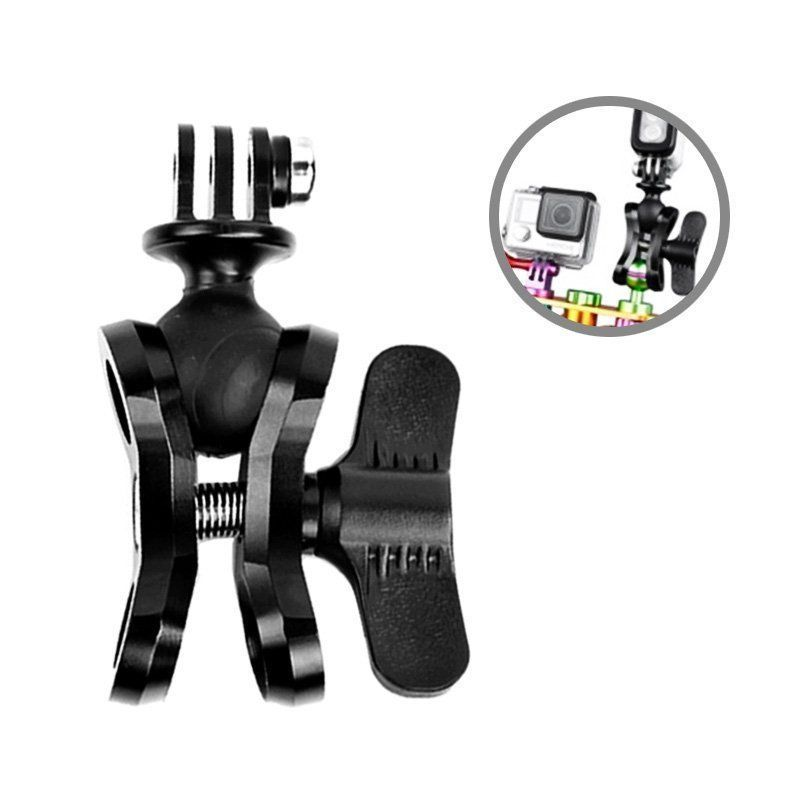 Diving Light Aluminum Stainless Butterfly Clip Arm Clamp
