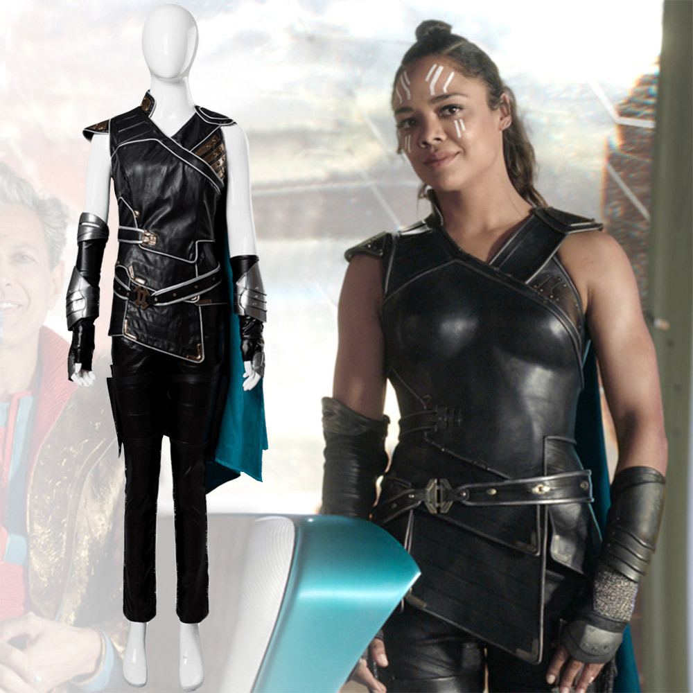 Adult Women Thor 3 Ragnarok Valkyrie Cosplay Costume Dress Cape Halloween Carnival Costumes