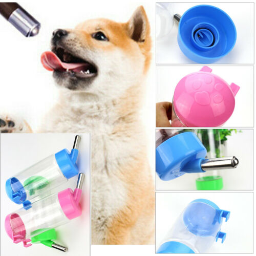 Portable Pet Dog Cat Outdoor Travel Water Bowl Bottle Feeder Drinking Fountain Send In Random