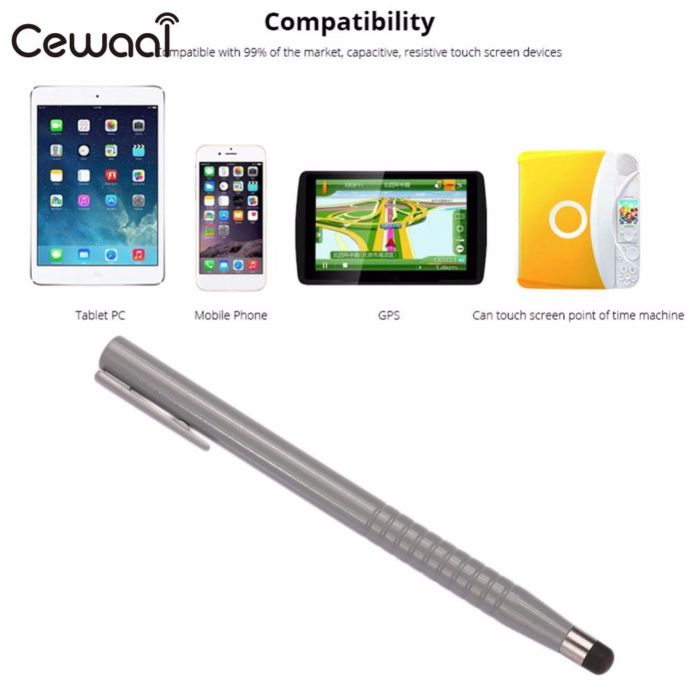 Cewaal 2 In 1 Universal Capacitive Pen Touch Screen Point Stylus Pen Ballpoint  Pen Pencil For IPad Phone PC Tablet Laptop