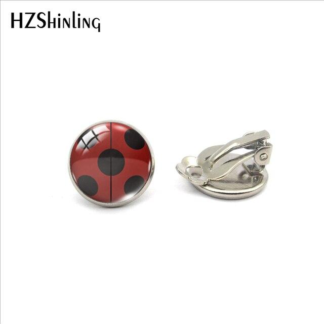 Earrings Cute Ladybug Jewelry No Pierced Earrings Gifts for Girls 2