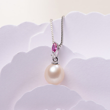 gNpearl Natural Waterdrop White Freshwater Pearl Necklace 925 Silver Trendy Pendant Necklaces jewelry for women Gift nymph pearl jewelry natural freshwater pearl necklace pendant new trendy 9 10mm white round crown gift for girl 31cm x243