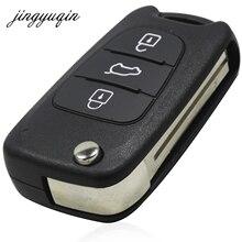 Jingyuqin Новые 3 Пуговицы удаленное Оболочки для Hyundai i30 ix35 KIA Sportage K2 K5 складной удаленный случае ключ без логотипа