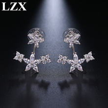 Женские серьги гвоздики с фианитами кристаллами и камнями ювелирные