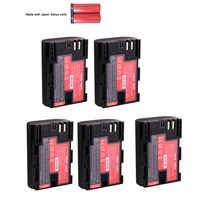 5x Japón Sanyo celular batería LP-E6 LPE6 LP E6 E6N Cámara Paquete de batería para Canon EOS DSLR 5D Mark II Mark III 60D 60Da 7D 70D 6D