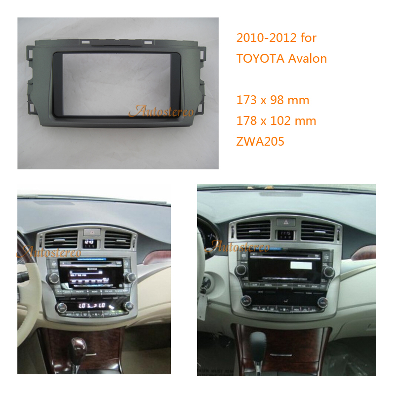ZWNAV 11 205 Car Radio Facia Plate Panel Installation Surround Trim Fascia Frame For TOYOTA Avalon 2010 2012 Double DIN