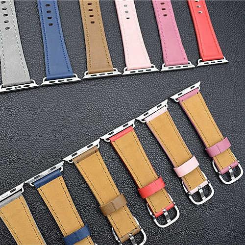 Nieuwste Lederen Zonnebloem Klassieke Gesp horloge band bandjes voor apple horloge serie 1 2 3 iwatch horlogebanden