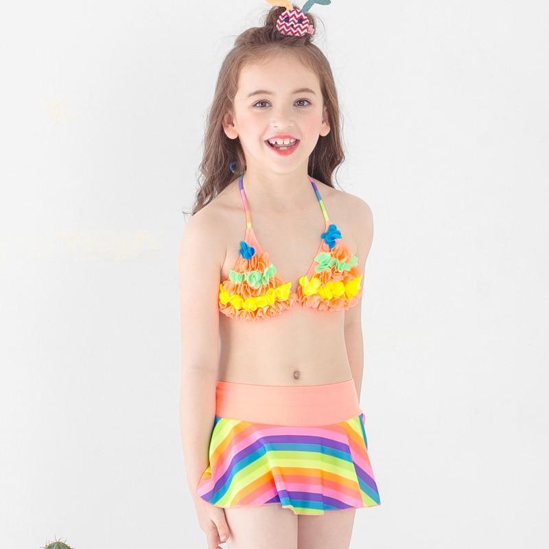 1 PC Girls Stars Skirted Swimwear