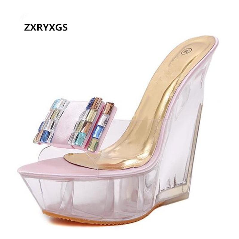 62009010a24 Caliente Zapatos Mujer Plataforma Nuevo Altos Las Strass De Apricot rosado 2019  Moda Tacones Mujeres Sexy ...