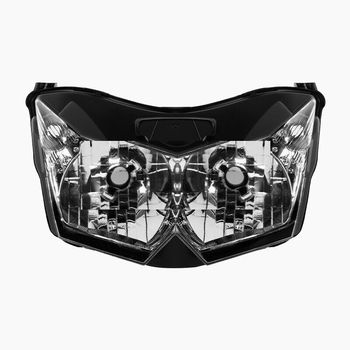 цена на Motorcycle Headlight Assembly House Fit For Kawasaki Z1000 ZRT00B Z750 ZR750L 2007-2010 2008 2009 Clear Lighthouse