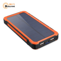 BOGUANG Solar Panel Solar Power Bank 20000MAh Mobile Charger 2 USB Ports Portable Charger For Smartphone