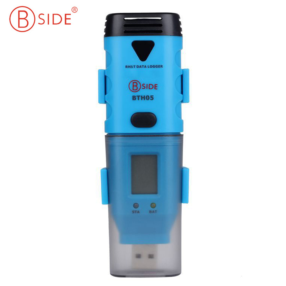BSIDE BTH05 Waterproof Portable Mini 3 Channel USB Data Logger Internal External Temperature Humidity Data Logger Recorder