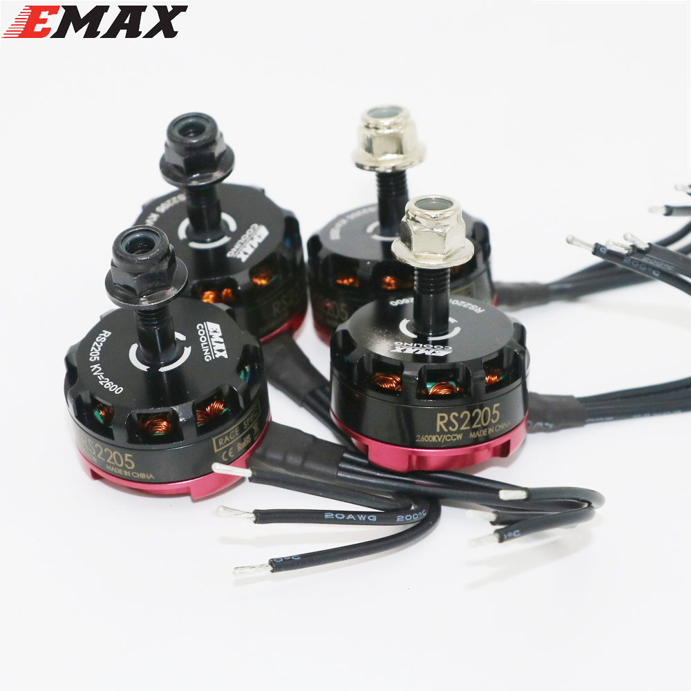 4set/lot Original Emax RS2205 2300KV 2600KV Cooling Brushless Motor CW CCW FPV Racing Edition Motor For FPV Drone Quadcopter emax rs2205 2300kv cw ccw brushless motor rc plane 4 pcs fvt little bee 20a mini esc 2 4s for fpv mini racing quadcopter