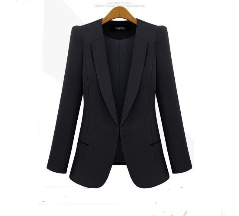 2016 Spring New Thin Coat Jacket Women Coat Blazer The Spot Black