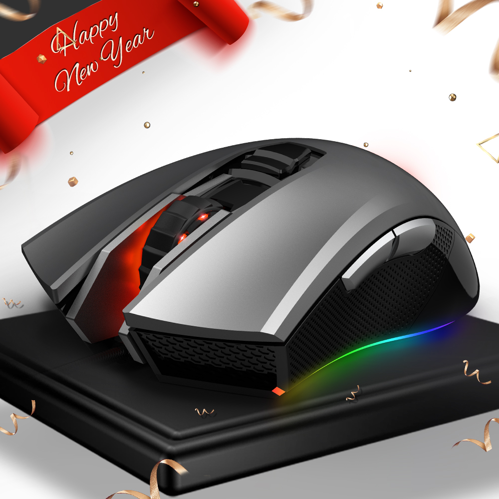 HEXGEARS M33 Professionelle Gaming Maus Verdrahtete RGB Backlit 5000 DPI Maus Gamer Mäuse 6 Taste Mause Muis USB Computer Maus laptop