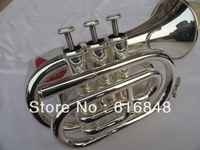 Factory Wholesale Fidelity Pocket Trumpet Surface Silver Brass Instruments