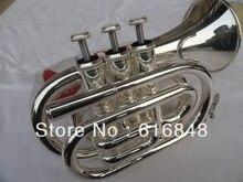 Factory wholesale– Fidelity pocket trumpet surface silver brass instruments pocket trumpet