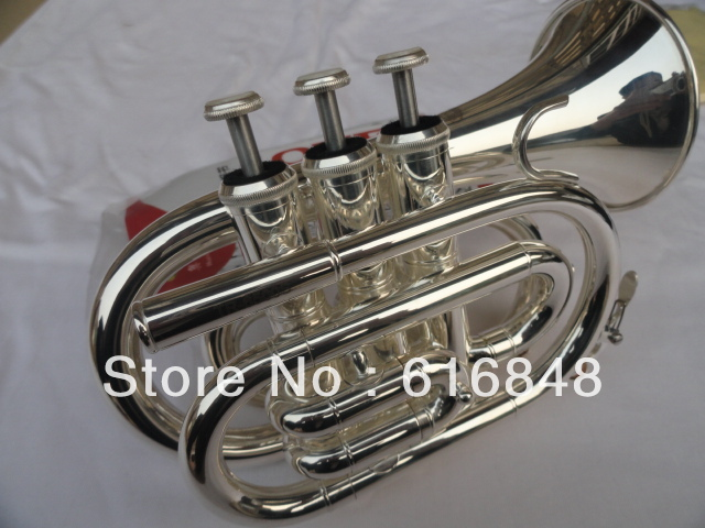 New Arrival High Quality OVES Pocket Trumpet Silver Plated Surface Brass Tube Bb Musical Instruments Free Shipping trumpet mouthpiece set silver plated 4 sizes convertible 7c 5c 3c 1 1 2c