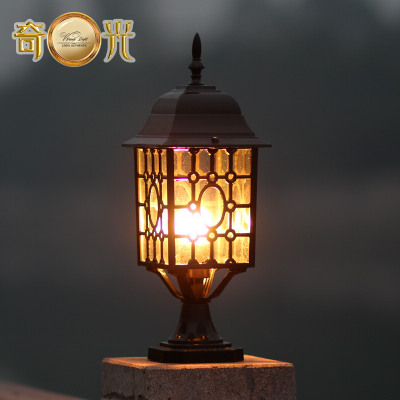 Outdoor Decorative Columns Garden Pillar Lights Wall Mounted Post Light  Waterproof Die Casting Aluminum Black