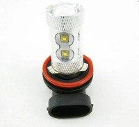 2X50 W H10 9145 9005 HB3 Blanco Lente Del Proyector LED Bombillas Para luces de Niebla Luces de Conducción Diurna Linterna del coche