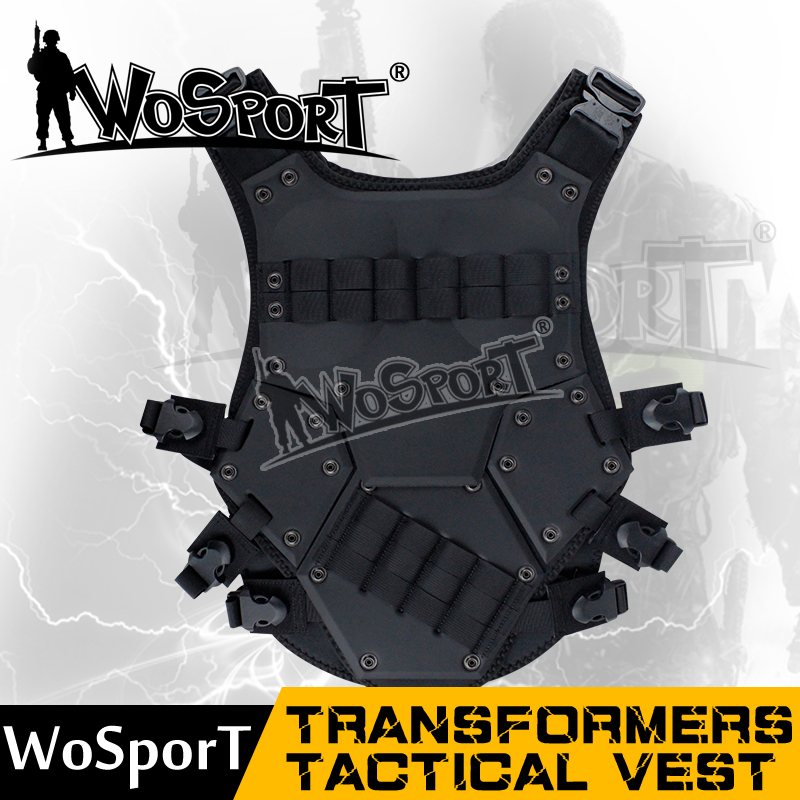 WoSporT  CQB LBV Molle Vest Military Combat Assault CS field protection vest airsoft adults cs field game skeleton warrior skull paintball mask