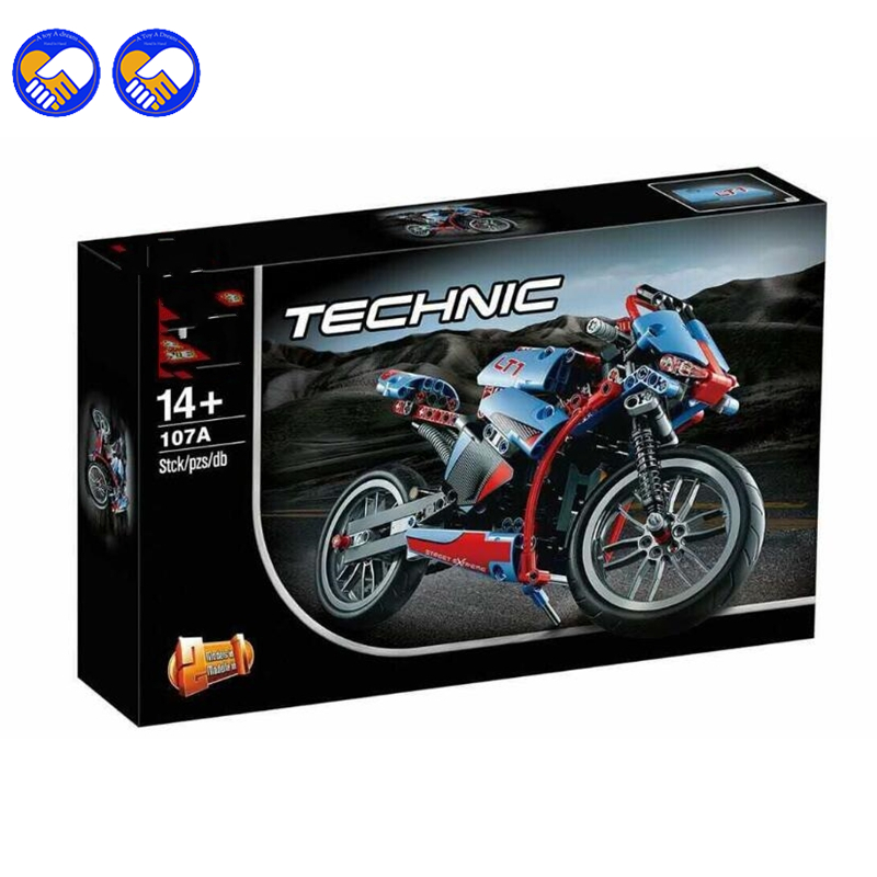 A toy A dream YILE 107 2 in 1 Technic Motorbike Motorcycle Car building bricks blocks toys Boy Game Bela 8051 Legoingly yile 107 2 in 1 3353 3354 technic motorbike motorcycle car building bricks blocks toys for children boy game bela 8051