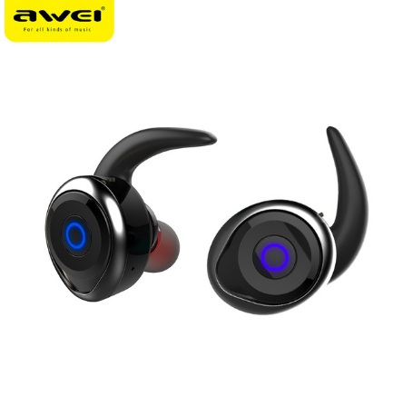 2017 Awei T1 bluetooth earphone true wireless Stereo headset support TWS, smart noise reduction, waterproof, IOS power display dental endodontic root canal endo motor wireless reciprocating 16 1 reduction