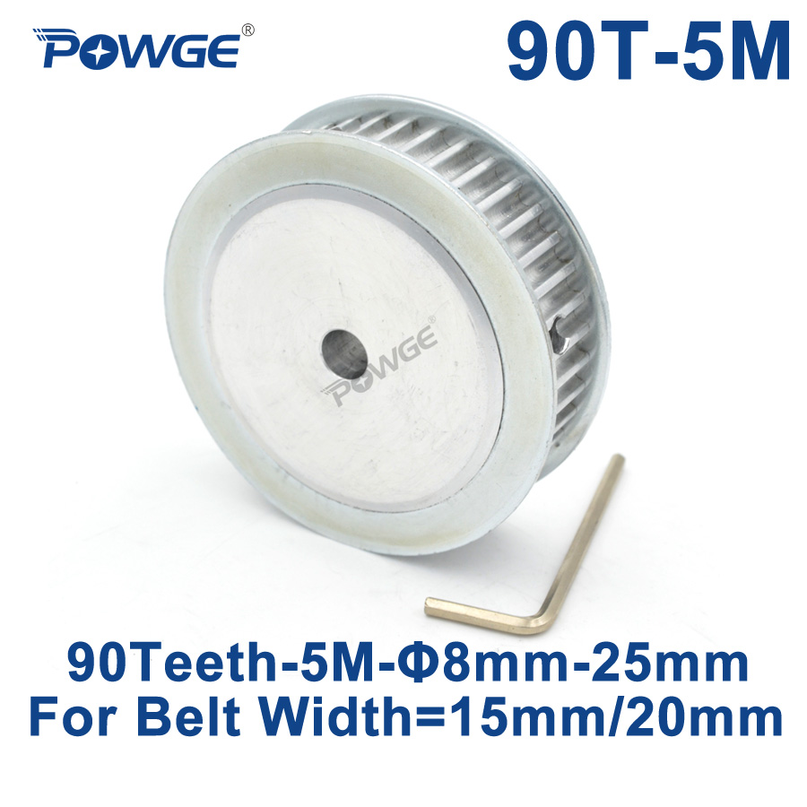 POWGE 90 Denti HTD 5 m Sincrono Puleggia Dentata Bore 8/10/12/15/16/ 17/19/20/25mm per la Larghezza di 15/20mm HTD5M Gear wheel 90 Denti 90 tPOWGE 90 Denti HTD 5 m Sincrono Puleggia Dentata Bore 8/10/12/15/16/ 17/19/20/25mm per la Larghezza di 15/20mm HTD5M Gear wheel 90 Denti 90 t