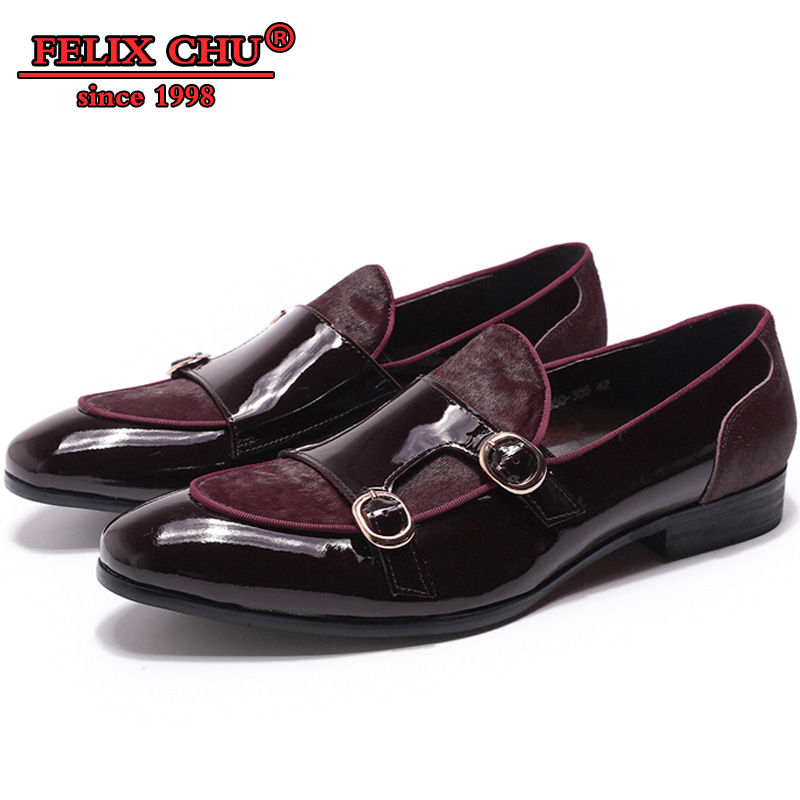 ITALIAN FASHION MEN CASUAL SHOES LEATHER OFFICE BLACK RED SHOES DOUBLE MONK STRAP LOAFERS MEN CASUAL MEN WEDDING DRESS SHOES