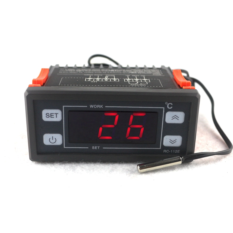 AC DC 12V/10A Digital LED Thermostat Regulator Reptile Temperature Controller -40~99C with NTC sensor c 114m 220v 10a 30 300 degree digital temperature controller thermostat regulator with temperature sensor output