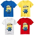 2016 colorful Children T-shirts Tee Child Clothing boys Girls T-Shirt cartoon Despicable Me 2 Minions cotton Short Sleeve