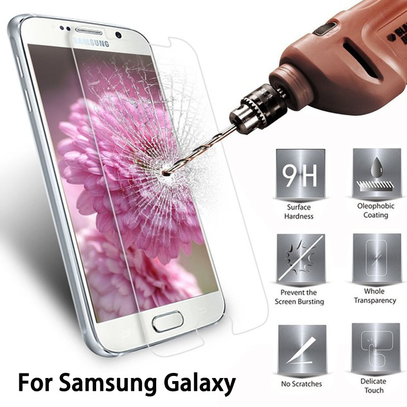Galleria fotografica 9H Tempered Glass For Samsung Galaxy J5 J7 J1 2016 S6 S5 S4 Grand Prime G530 G530F Premium Screen Protector Toughened Film