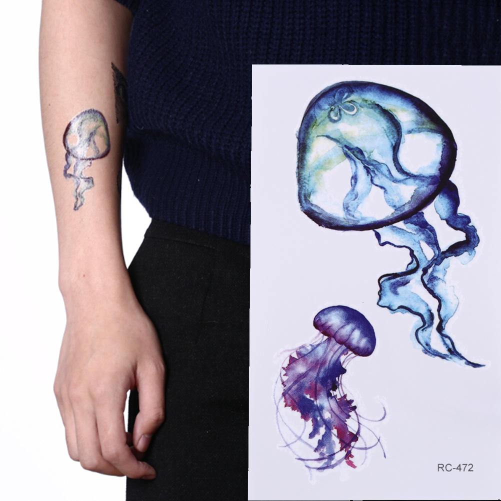 Us 076 17 Offstarfish Whale Shark Sea Animals Temporary Kids Hand Tatootattoos Waterproof Women Fake Body Art Arm Tattoo Sticker 6x105cm In