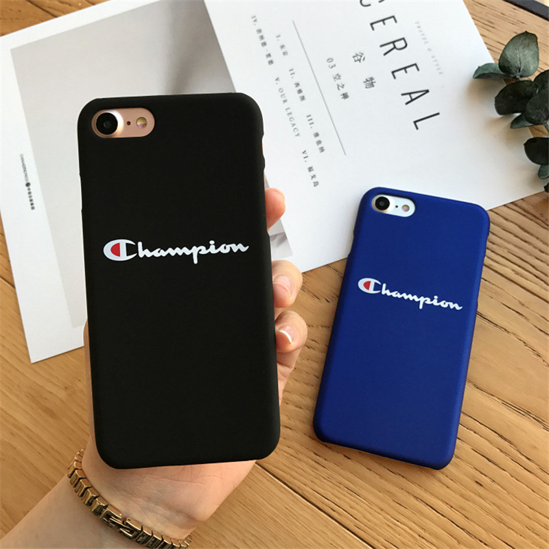 Capa for Iphone 5 5s SE Champion Case Hard Plastic Matte Back Covers for iPhone 6 6s 7 8 6Plus 6splus 7Plus 8Plus Coque Casing ...