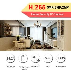 Image 3 - Besder H.265 5MP 4MP 2 メートルipカメラオーディオバンダル赤外線ナイトドームセキュリティcctvカメラonvif ftp電子メールアラートモーション検出ipc