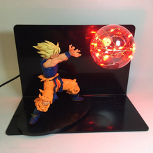 EU US Dragon Ball Z Super Saiyan Led Night Light  DBZ Son Goku Vegeta Table Desk Lamp Luminaria 110V 220V