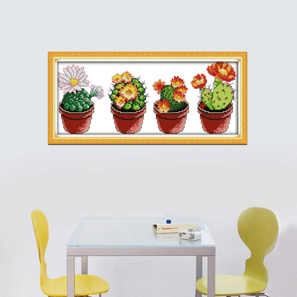 photograph regarding Cactus Printable identified as Happiness sunday even now lifestyle structure Desirable cactus printable cloth cross sch practices kits for needlepoint craft