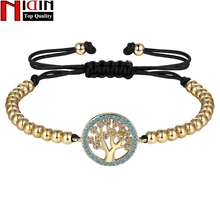 NIDIN Fashion Gold Color Chain Link Bracelet for Women Ladies Shining AAA Cubic Zircon Charm Jewelry Adjust Size For Female zouru brand fashion white gold plating link chain vintage bracelet female aaa big cz charm strand bangles jewelry free shipping