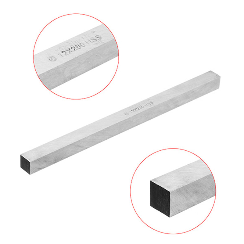 200mm 6/8/10/12mm HSS Square Milling Engraving Lathe Tool Bit Turning Tool Hardness HRC60