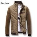 Nova Moda Inverno 2016 Homens Baixos Jaqueta Outwear Casaco Quente Parkas Espessamento Casual Slim Fit Zipper Casacos Casacos Roupas