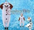 Unisex Adulto Crianças Snow Queen Olaf Traje Onesies Pijama Macacão Hoodies Cosplay Roupas Traje Olaf Boneco de Neve