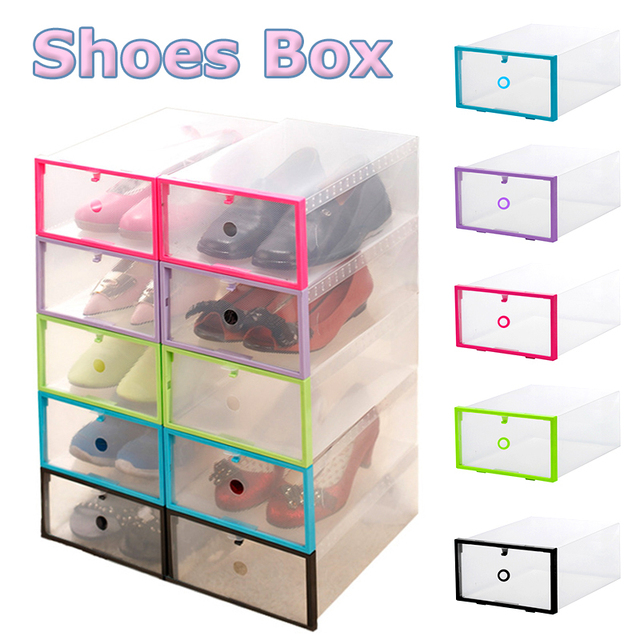 Charmant Home Portable Plastic Shoe Box Transparent Crystal Storage Shoebox  Household DIY Shoebox Storage Box #248523