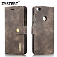 For Huawei P8 Lite 2017 Case Luxury Thin Soft Bifold Cowhide Wallet Style Flip Stand Card